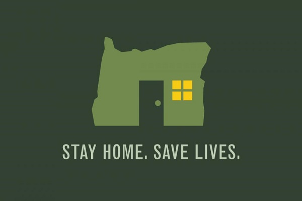 Stay Home Save Lives Oregon logo